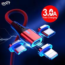 iONCT 3A Magnetic Micro Usb Cable Type C QC 3.0 Fast Charging Phone Microusb Type-C Magnet Charger usb c For iphone Android