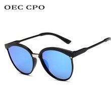 OEC CPO Brand Designer Fashion Women Sunglasses 2019 New Round Female Shades UV400 Mirror O185