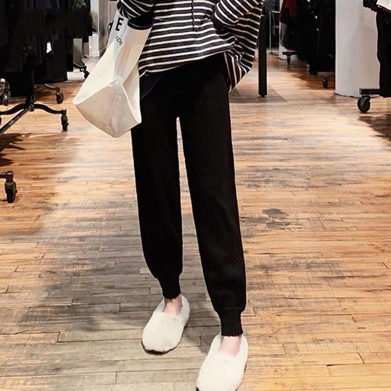 Pregnant Women's Pants Spring Autumn Sports Loose Pants 2021 New Wide Legs Outside Maternity Trousers