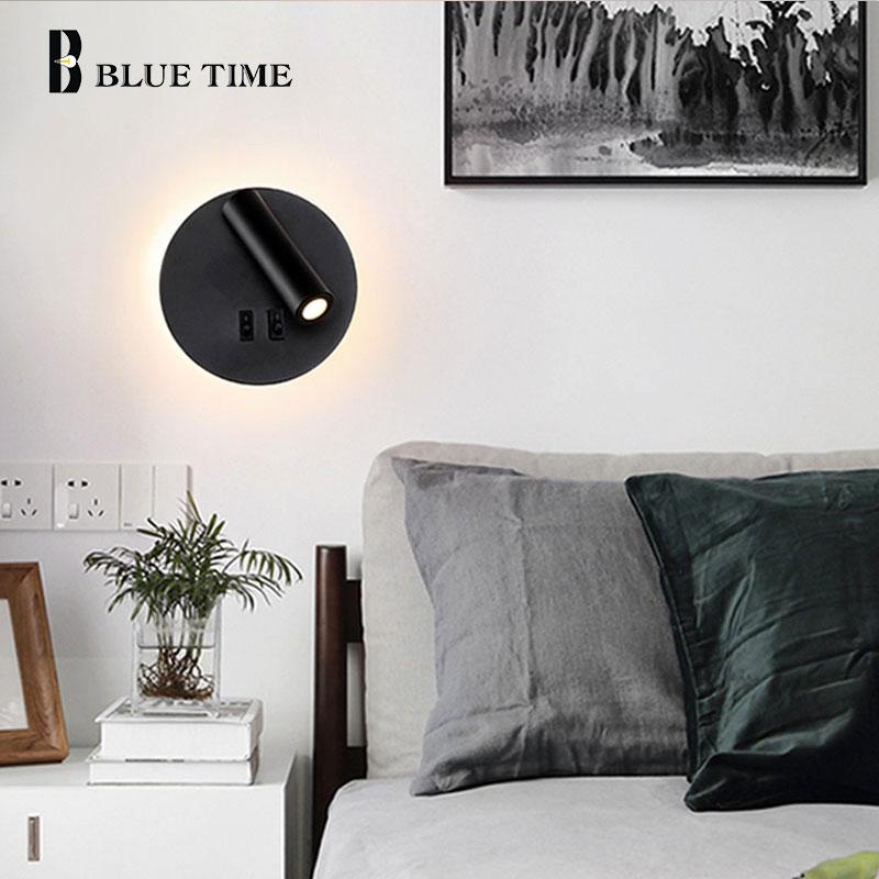 para casa quarto sala estar cabeceira luz do corredor preto branco 04