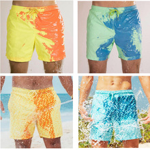 Summer mens swimming shorts Temperature-Sensitive Color-Changing Beach Pants Swim Trunks Shorts color changing swimwear