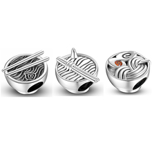 Delicious Hand-Pulled Noodle 925 Sterling Silver Beads Jewelry Making Fits Original JIUHAO DIY Bracelet Fine Charm