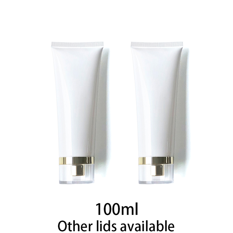 100ml Empty White Plastic Tube 100g Cosmetic Container Makeup Cleanser Lotion Bottle Aloe Cream Travel Packaging Free Shipping