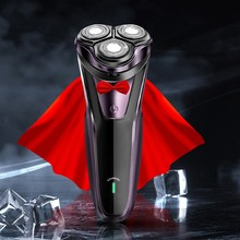 Electric Shaver 3D Razor Men\s Usb Charging Car Body Wash Three Knife Head Floating Portable Multi-function Beard