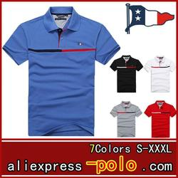 Mann Polo-Shirt Marke Mens Casual Deer Stickerei Polo shirt Männer Kurzarm Hohe Menge Polo Männer 874