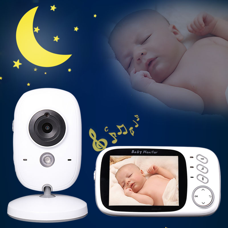 Monitor electrónico de bebé cámara de audio inalámbrica babyfoon niania eletroniczna video monitorabebes connectee wifi videos vigilancia