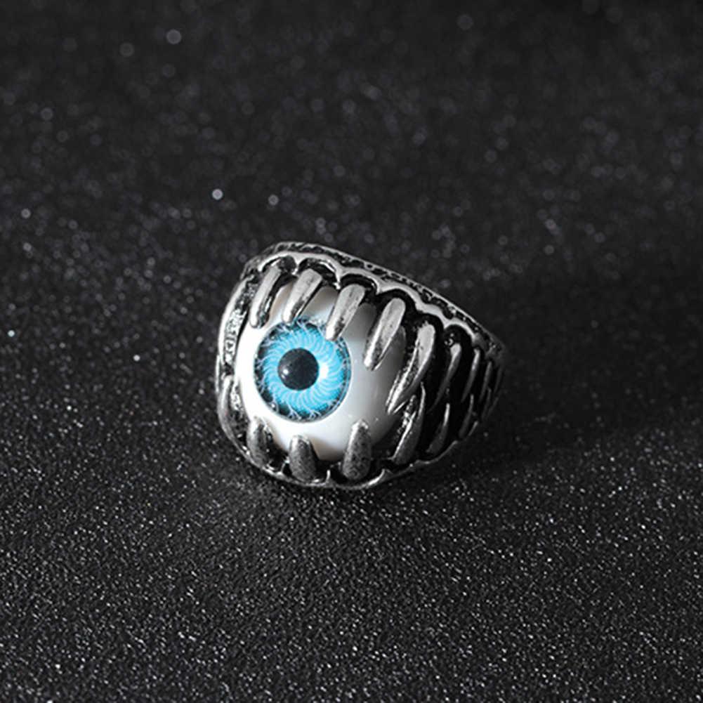 Anillo de encanto de bola de ojo malvado gótico para hombre, joyería de dedo Punk, regalo, anillos de acero inoxidable, joyería de moda para hombre, nuevo llegada