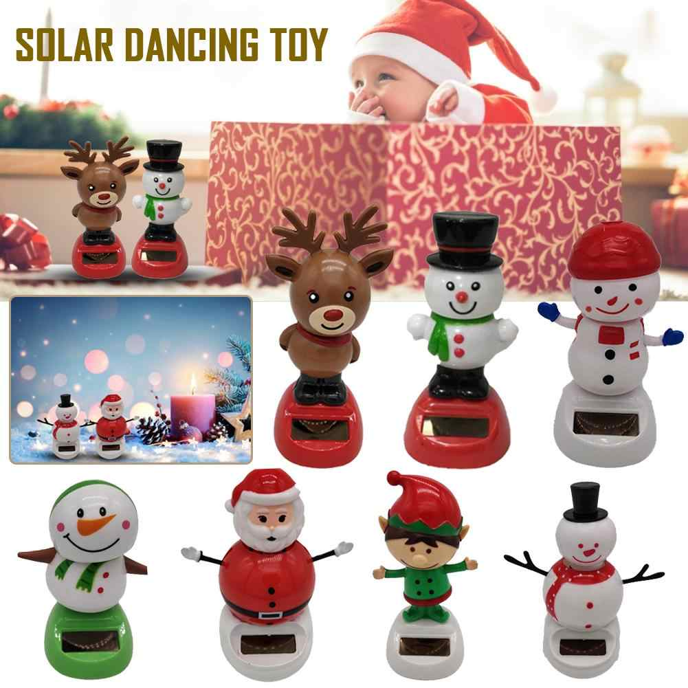 Nuovo Popolare Powered Ballando con Animali Oscillante Ballerino Decor Pupazzo di Neve pannello solare altalena automaticly Giocattolo Di Natale