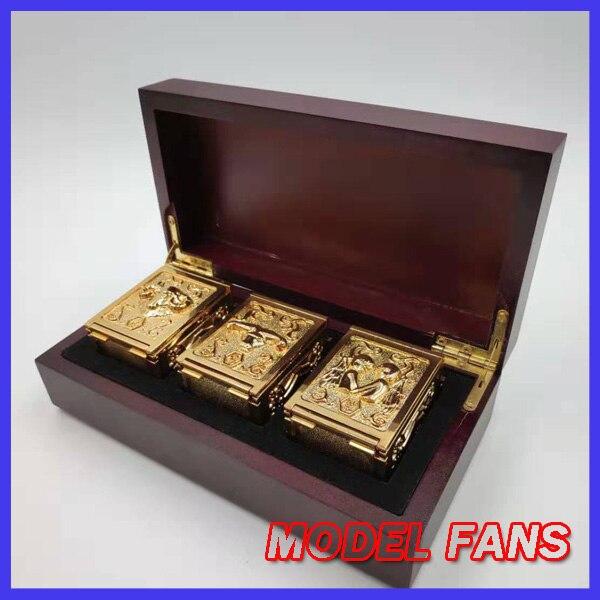 MODEL FANS instock saint seiya cloth myth 3pcs/set aries Taurus Gemini metal alloy Pandora cloth Box toy for collection