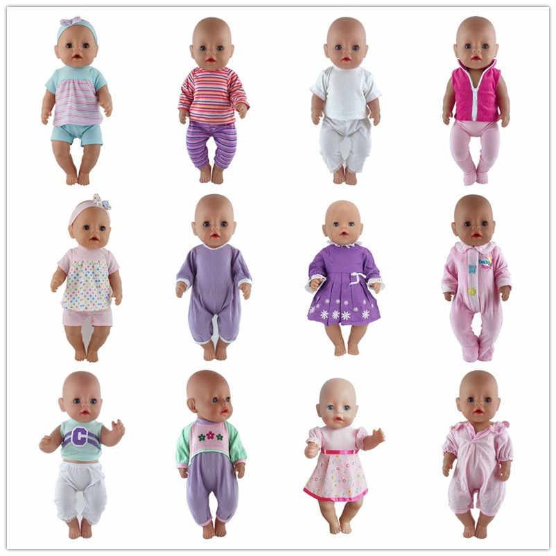 15 สีตุ๊กตาเสื้อผ้าชุด Fit สำหรับ 43 ซม.Baby New Born ตุ๊กตา 17 นิ้วตุ๊กตาเสื้อผ้า, เด็กที่ดีที่สุดของขวัญ