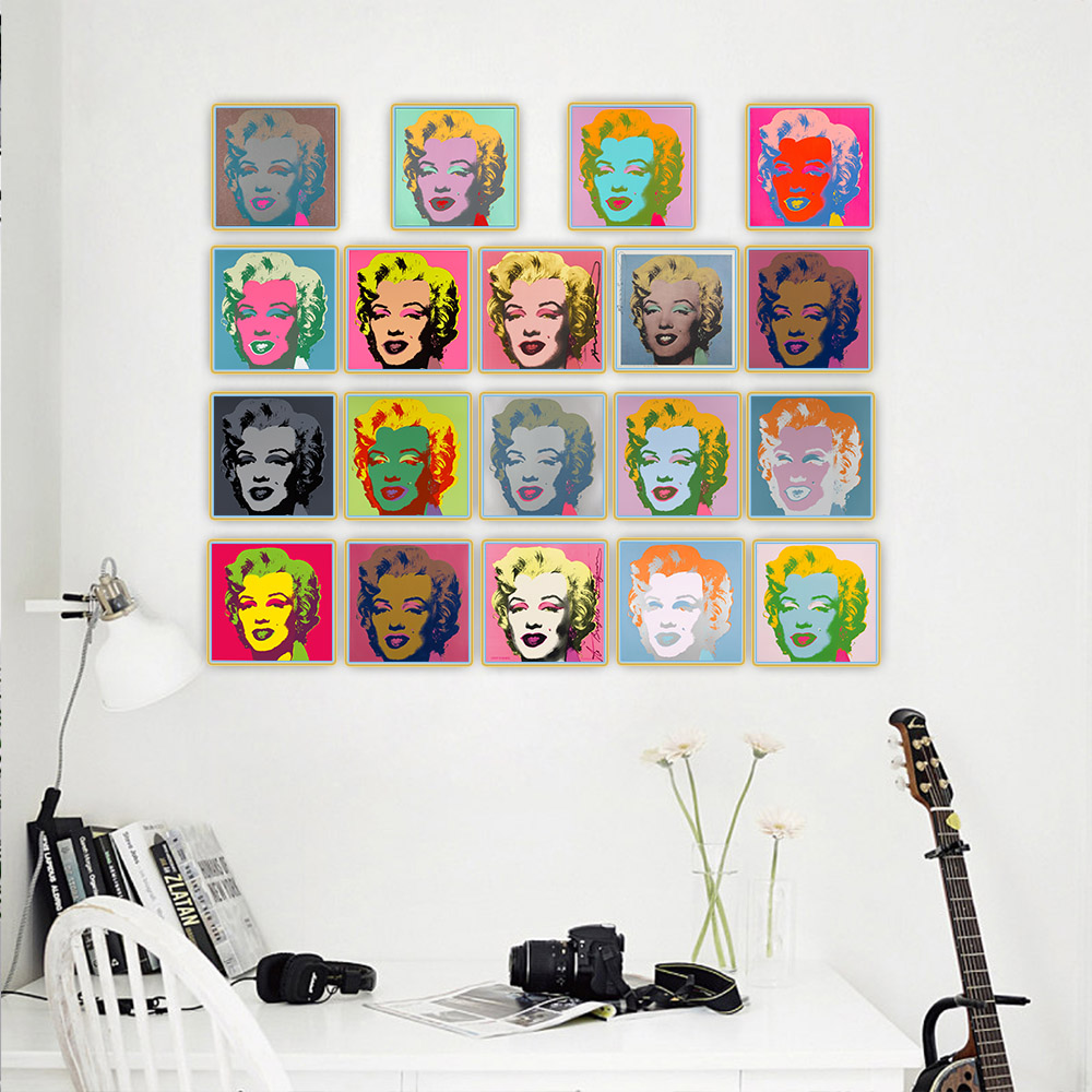 Citon Andy Warhol《Marilyn Monroe》Pop Art Canvas Oil Painting Artwork Poster Decorative Print Picture Wall Decor Home Decoration