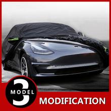 Modyfikacja dla Tesla pokrowiec na samochód specjalny krem przeciwsłoneczny ochrona przed deszczem wodoodporna osłona na samochód na każdą pogodę dla Tesla Model 3 tanie tanio AMAZING CHANGE Fiber cloth Sunscreen 0 1kgkgkg Plandeki samochodowe 1mmm 5mmm 2016-2019