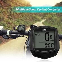 Водонепроницаемый термометр велосипедный Спидометр проводной датчик одометра велосипедный компьютер цифровой секундомер Подсветка Многофункциональный