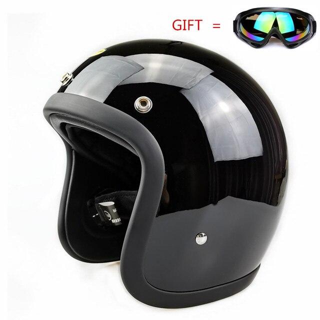 Glass Fiber Vintage Motorcycle Helmet TT&CO 500TX Retro Scooter Jet Open Face Small Shell TTCO Motorbike Riding Capacete Moto