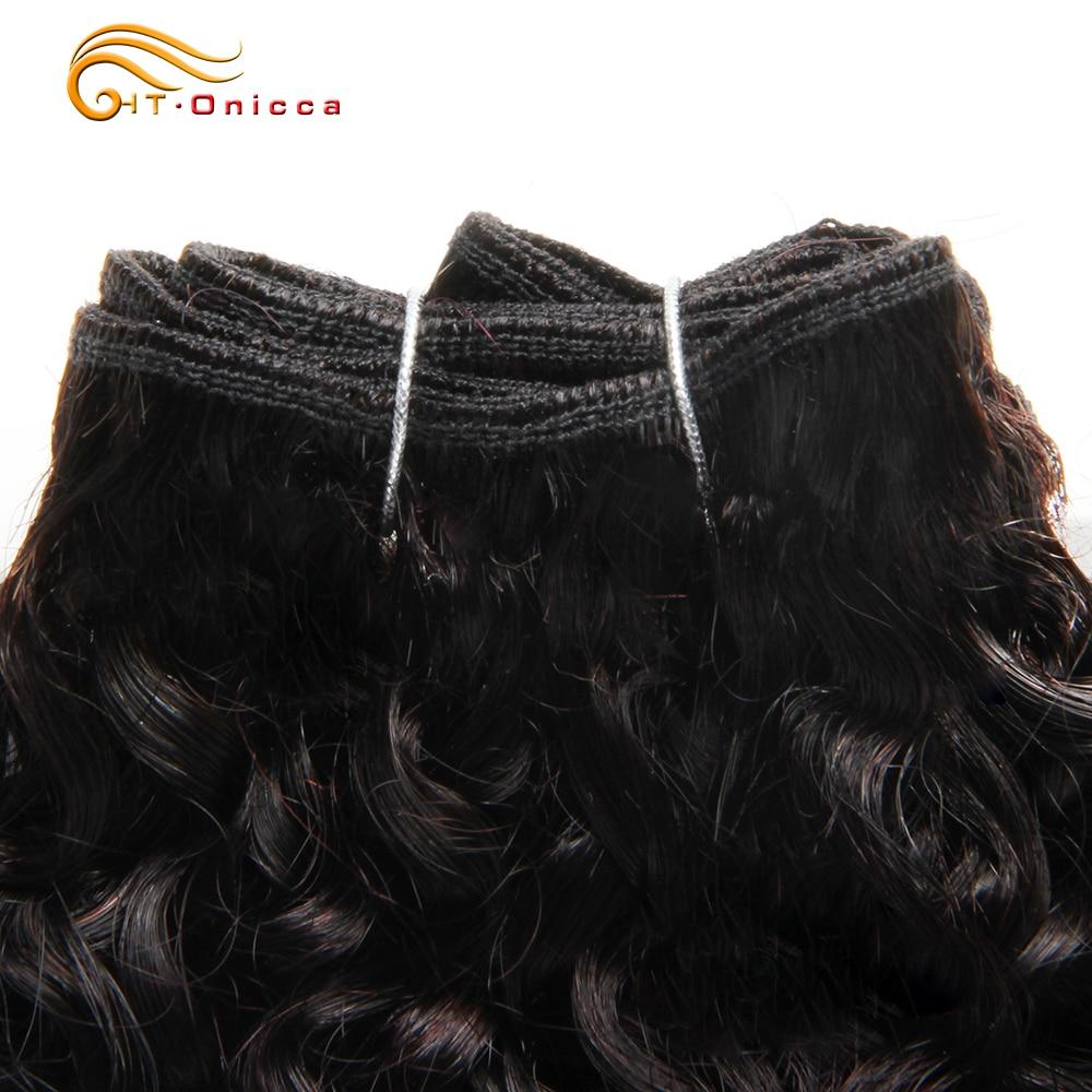 6Pcs/Lot  Curly Bundles Jerry Curl Double Drawn   Funmi Hair T1B 30 99J Colored Hair  Htonicca 4