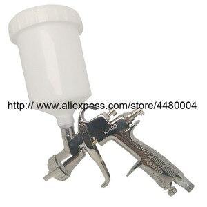 Image 1 - K 400 wysokiej jakości sprej pistolet 1.4mm 1.7mm LVMP pistolet na sprężone powietrze grawitacji ze stali nierdzewnej kubek 600ml auto samochód farba do twarzy