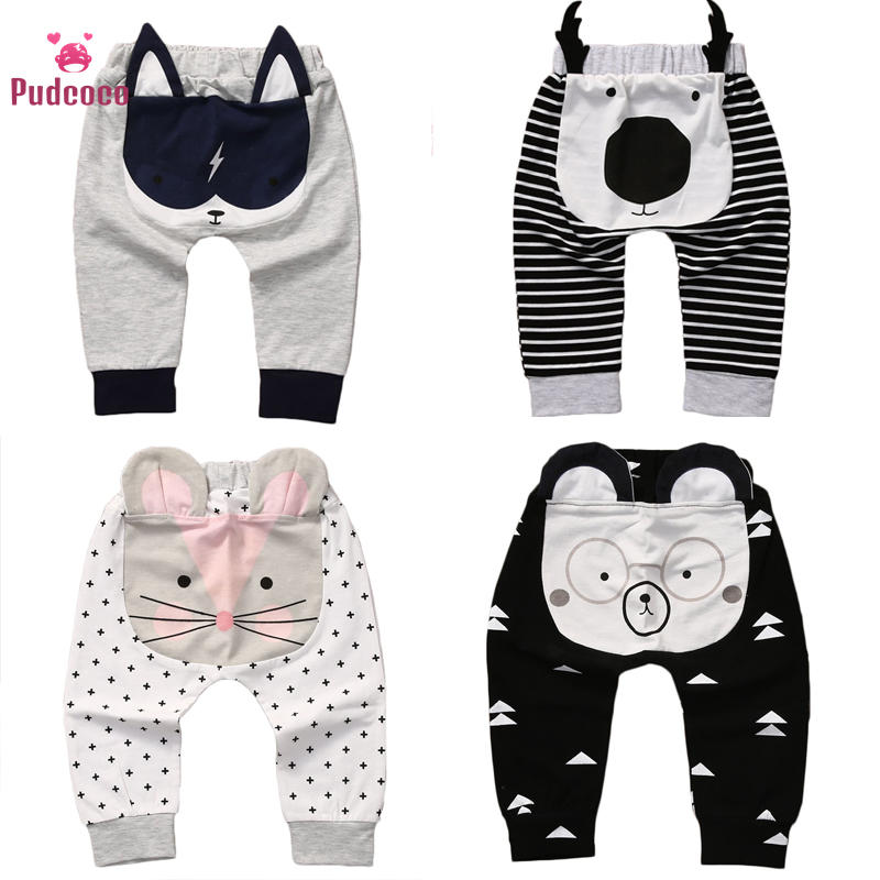 Pudcoco Cute Toddler Baby Girl Clothes Cartoon Harem Pants Bottoms Pants Baby Leggings Trousers Bebe Toddler Bottoms Pants