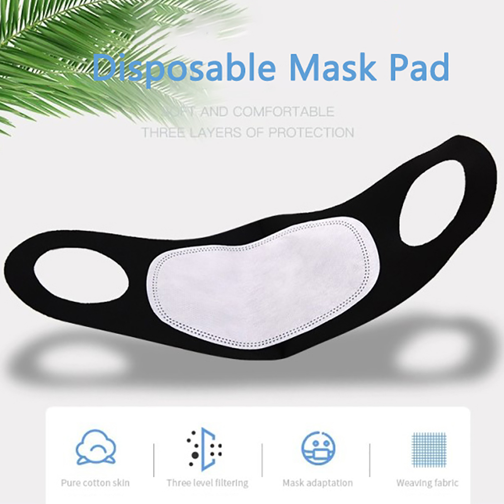 100Pcs Disposable PM2.5 N95 Activated Carbon Filter Insert Protective Filter Media Insert For Mouth Anti Dust Health Set