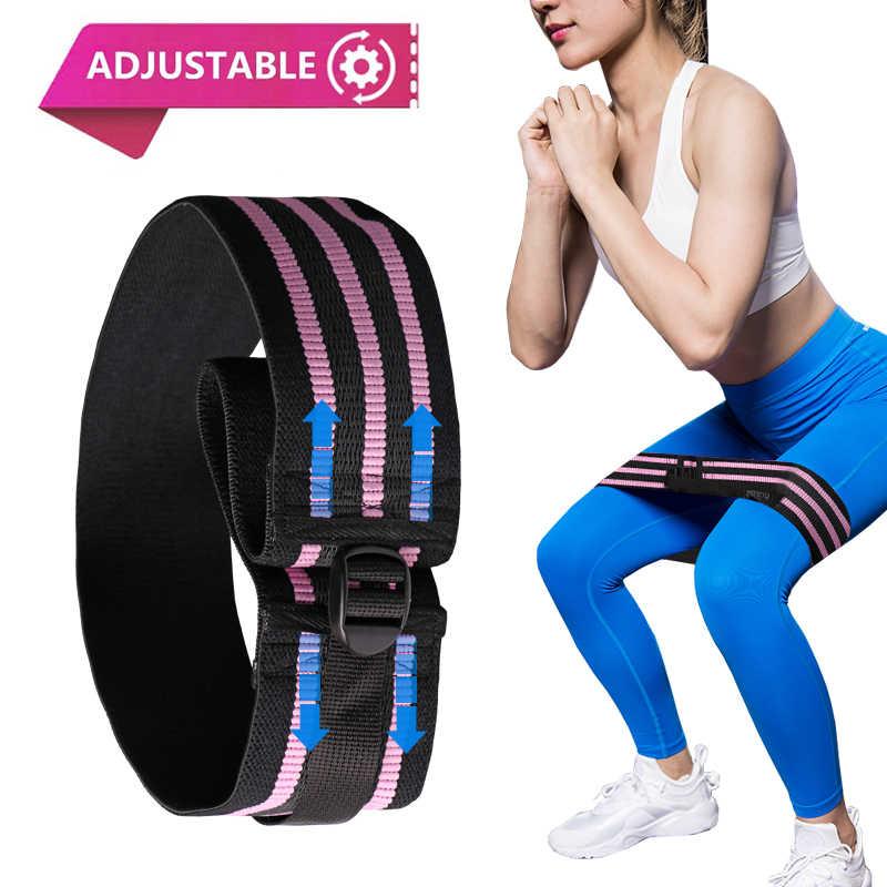 Zespoły oporu Hip pętli Fitness Workout podnoszenia Hip regulowany pleciony antypoślizgowe Booty ćwiczenia jogi elastyczne kółko opaski
