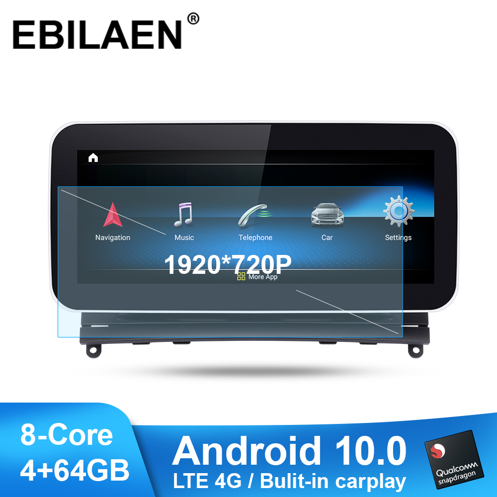 Car Radio Multimedia Player for <font><b>Mercedes</b></font> Benz C Class <font><b>W204</b></font> S204 2007-2010 <font><b>Android</b></font> 10.0 <font><b>Autoradio</b></font> Stereo Navigation LTE 4G GPS image
