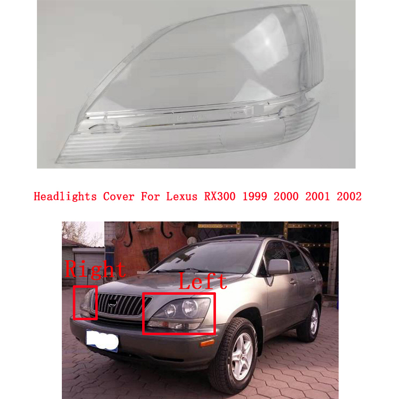 Headlamp <font><b>Lamp</b></font> Cover Glass <font><b>Lamp</b></font> Shell Headlight Cover Transparent Lampshade For <font><b>Lexus</b></font> <font><b>RX300</b></font> 1999 2000 2001 2002 image