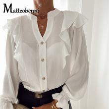 Новинка Осень зима 2020 модная женская рубашка с длинным рукавом
