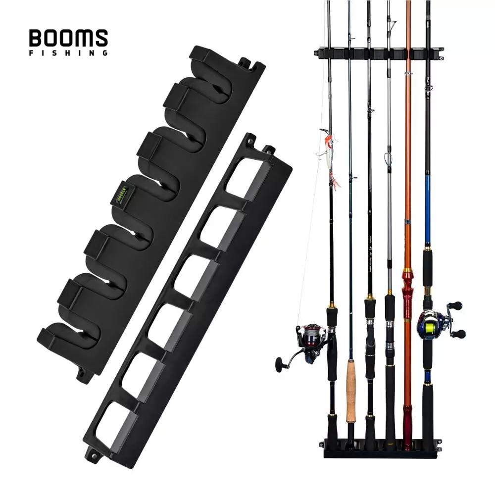 Boms Fishing WV2 Вертикальная 6-стержневая стойка держатель для удочек настенное крепление Модульная для гаража