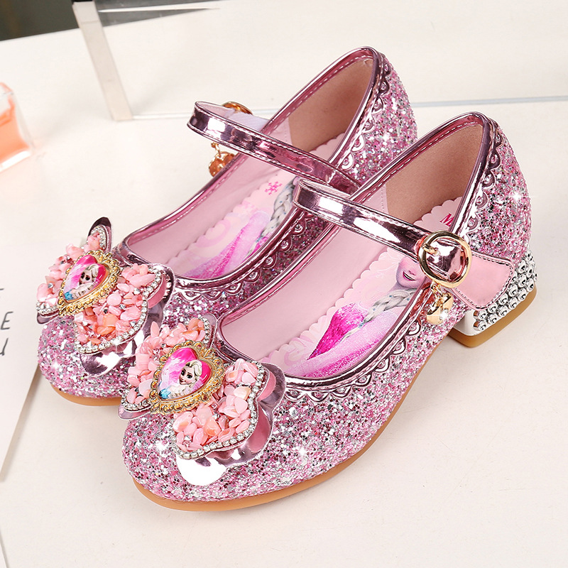 Spring And Autumn New Girls 2cm Heel  Princess Shoes Children Dance Performance Shoes Little Girls Fashion Shoes