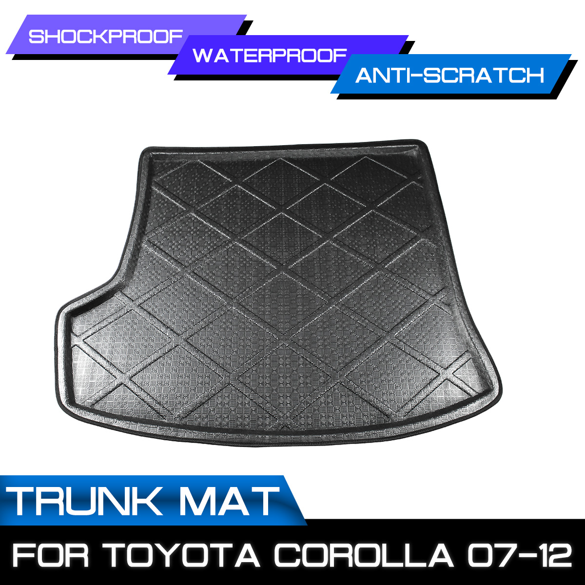 Car Rear Trunk Boot Mat Waterproof Floor Mats Carpet Anti Mud Tray Cargo Liner For Toyota Corolla 2007 2008 2009 2010 2011 2012