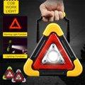 Портативный прожектор COB рабочий светильник перезаряжаемый треугольный авариПредупреждение дорожный светильник Точечный светильник для ...