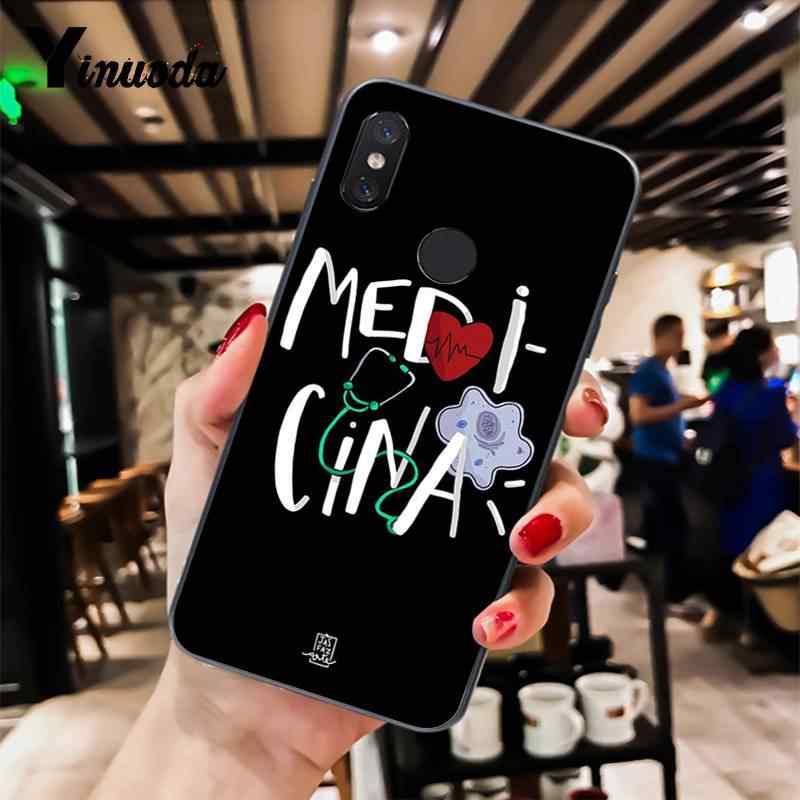 Yinuoda Kau Adalah Orang Dokter Perawat Kedokteran Cover Hitam Lembut Shell Ponsel Case untuk Xiaomi 6 MIX2 8SE K20 redmi 5A NOTE4X 7 6A