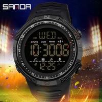 Militär Sport Uhr Herren Uhr Mode Marke SANDA Digitale Armbanduhr Stoßfest Countdown Uhren Wasserdicht Stunde Armband