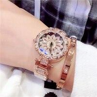 베스트 셀러 여성 메쉬 자석 버클 별이 빛나는 하늘 시계 캐주얼 럭셔리 여성 기하학적 표면 석영 시계