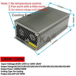 Image 4 - Single Output DC 12V 13.8V 15V 18V 24V 27V 28V 30V 32V 36V 42V 48V 60V 600W 720W 800W 1000W 1200W 1500W Power Supply Switching