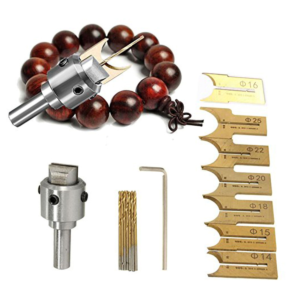 6mm-25mm Milling Cutter Router Bit Buddha Wooden Beads Drills Bit Ball Knife Woodworking Tools Wooden Beads Drill