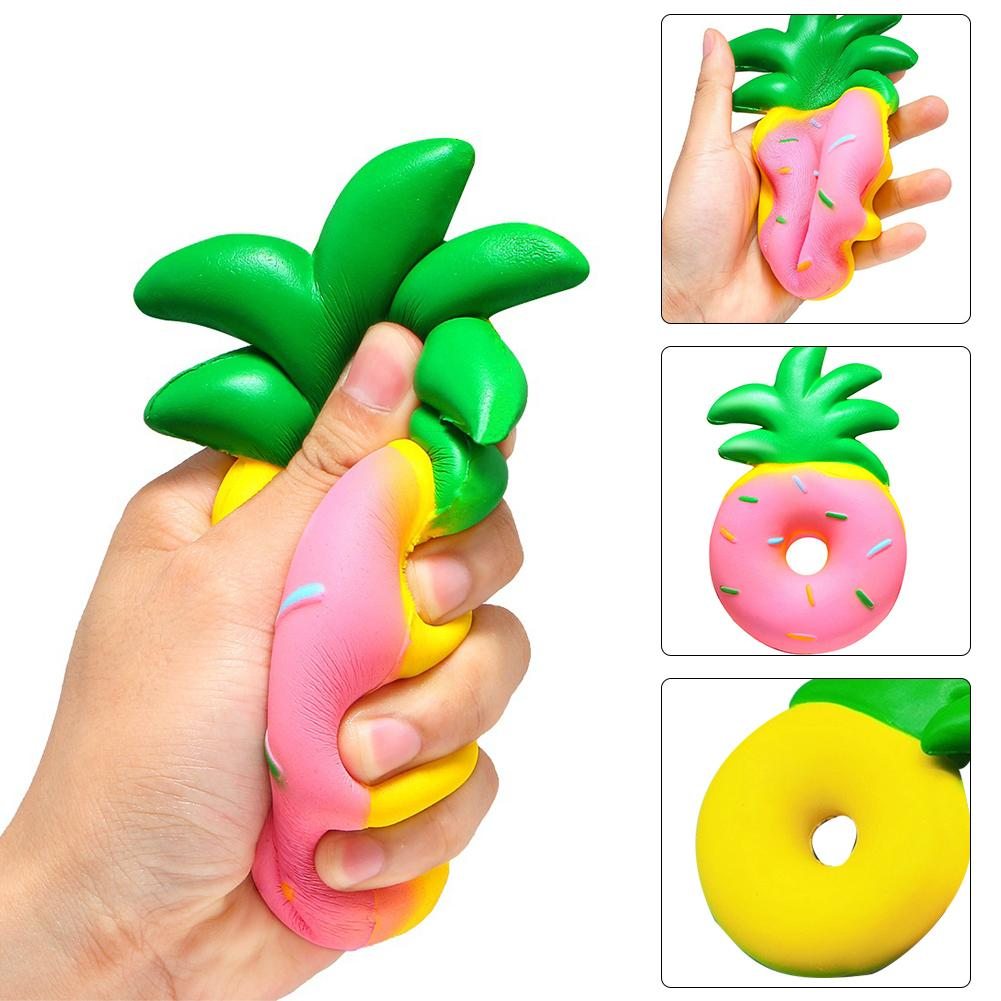 Slow Rising Cute Pineapple Donut Stress Reliever Kids Adult Squeeze Toys