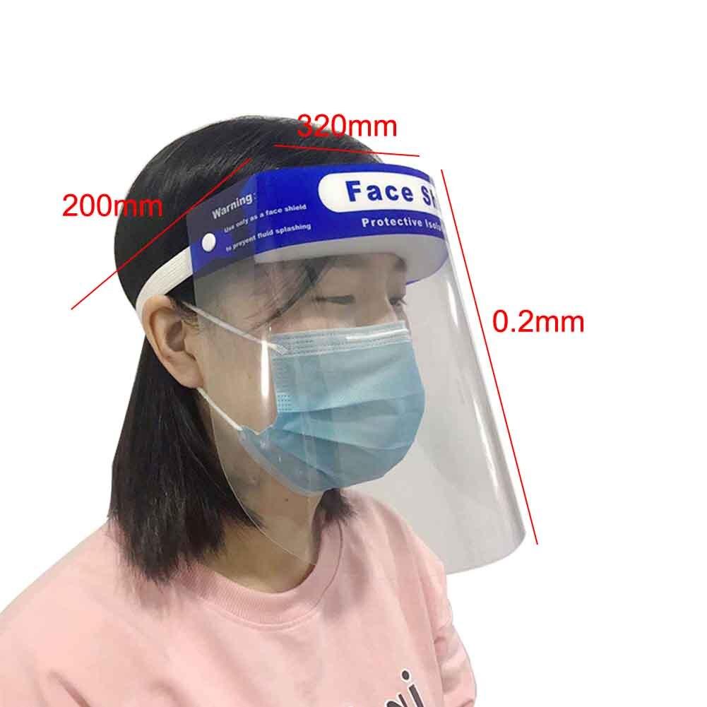 2 uds de careta protección facial completa de doble cara
