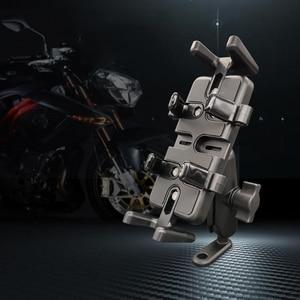 Image 3 - Super Strong Shockproof Handlebar Motorcycle Phone Holder Support Walkie Talkie Holder For GPS Bicycle Phone Holder ADV Holder