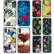 landscape Picture Black Soft Case for Apple iPhone 7 7 Plus 8 8Plus X Xs 10 XS Max XR 5s 5 SE 6 6s Plus Phone Cover Coque(China)