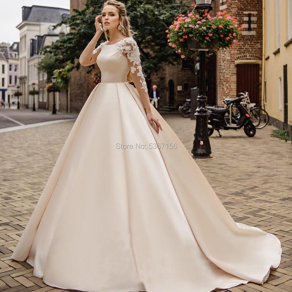 Robe De Noiva 2020 Champagne robes De marié