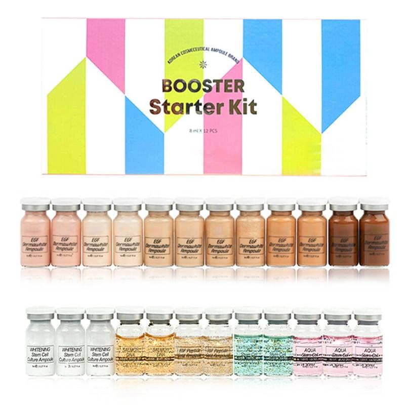 12Pcs Korean Cosmetics Stayve BB Cream Glow Ampoule Serum MesoWhite Brightening Serum For Whitening Acne Anti-Aging  Treatment
