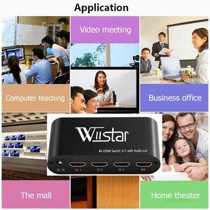 Image 4 - Wiistar SPDIF/Cáp Quang Âm Thanh TOSLINK Âm Thanh 3X1 Switcher Quang Kỹ Thuật Số HDMI Chuyển Đổi Bộ Chia Bộ Mở Rộng Với IR Remote Contro