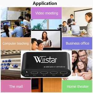 Image 4 - Wiistar SPDIF/TOSLINK Optical Audio 3x1 Switcher Digital Optical HDMI Switch Splitter Extender with IR Remote Contro