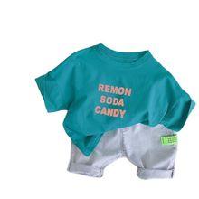 Футболки для мальчиков VIDMID с коротким рукавом для маленьких мальчиков Повседневная модная футболка для мальчиков Топы И Футболки Детская о...