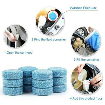 Car wash parts, effervescent tablets, concentrated tablets, solid wipers and windshield cleaners image