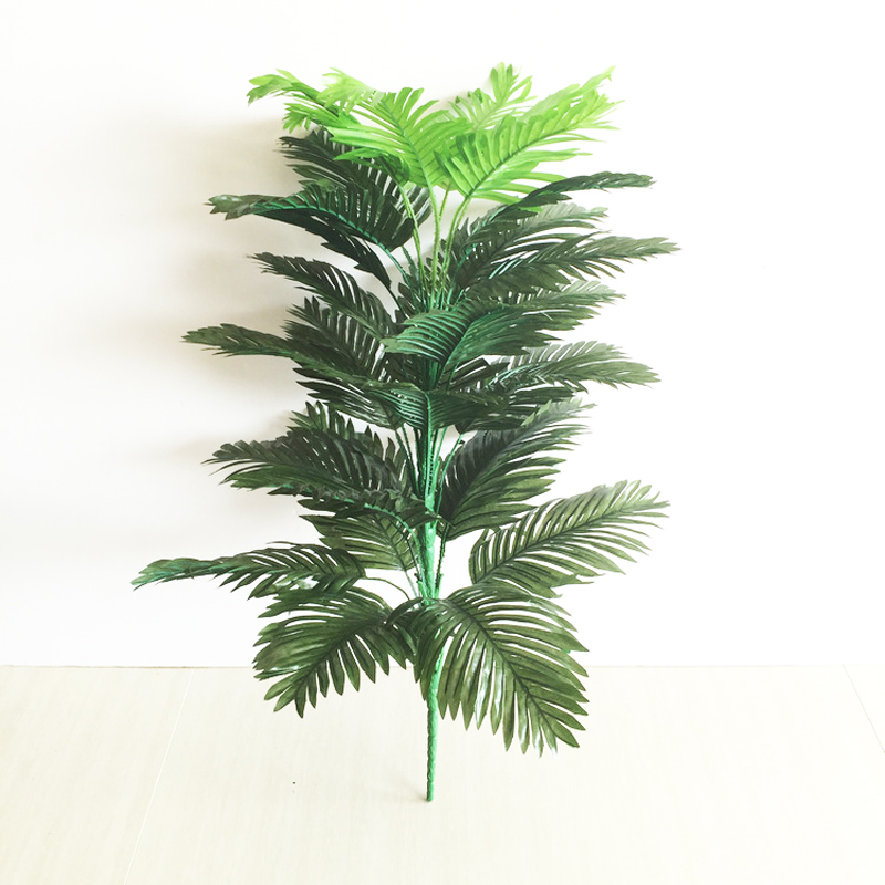 90cm 39 Leaves Tropical Tree Large Artificial Plam Plants Fake Monstera Branch Silk Palm Leafs Without Pot For Home Garden Decor-2