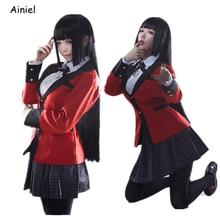 Suit Women Skirt Cosplay-Costume Student-Uniforms Halloween Jabami Girls Yumeko Wig Gambling