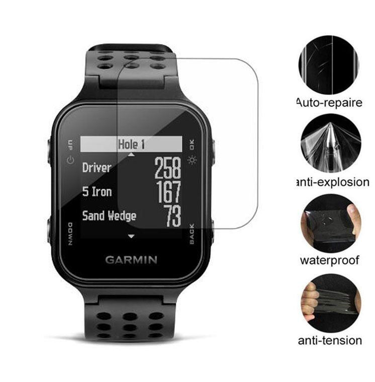 3pcs Soft Clear Protective Film Guard For Garmin Approach S20 GPS Watch Golf Smartwatch LCD Screen Protector Cover Protection