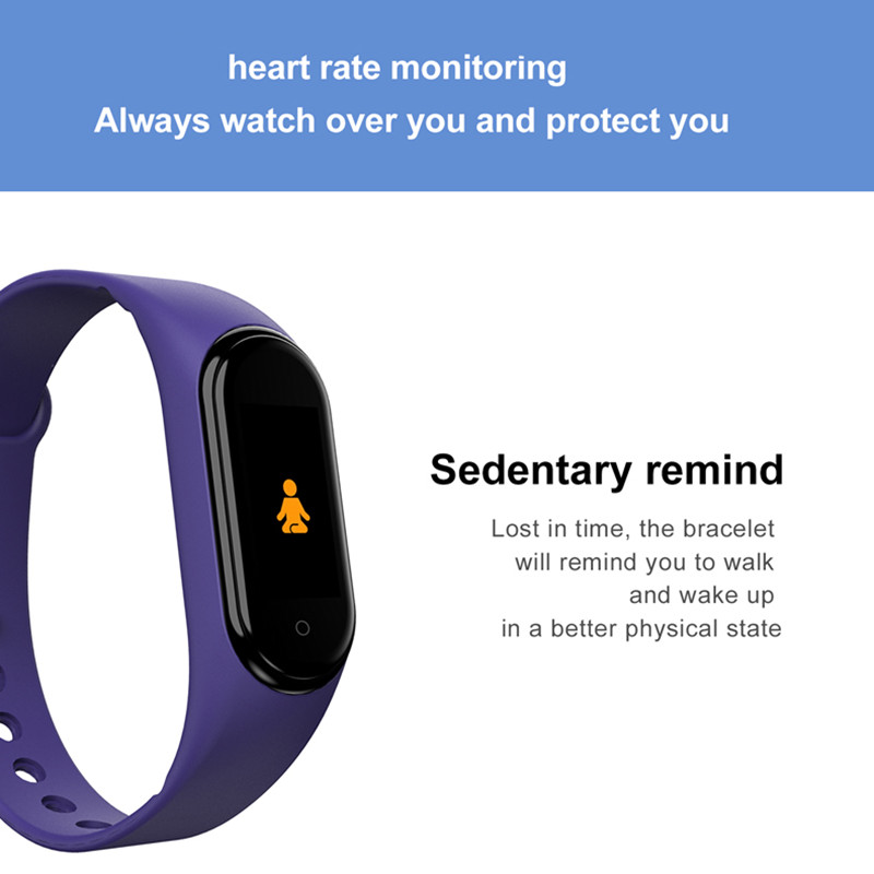 H0540c00db41747fc99db6ef960840764Q M4 Smart Band Wristbands Fitness Tracker Health Heart Rate Blood Pressure Bluetooth Sports Bracelet smartband