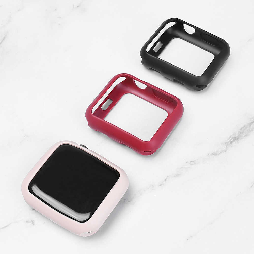 TPU Apple case for series 5 4 44mm 40mm iWatch series 321 38mm 42mm Silica gel color cover protection fit ultra-thin bezel